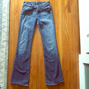 7 For All Mankind flared leg jeans size 25